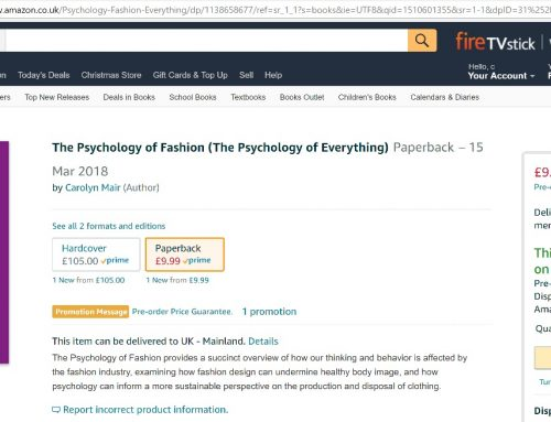 The #Psychology of #Fashion, part of the Psychology of Everything series, published by @Routledgepsych