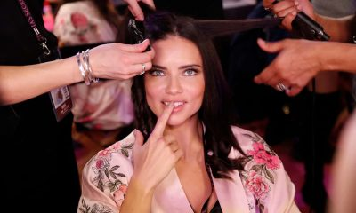 Adriana Lima poses backstage before the 2017 Victoria's Secret show in Shanghai – she has since said she is quitting the 'superficial' modelling business. Photograph: VCG/Getty Images
