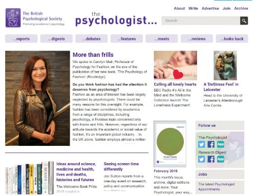 More than frills: my interview in the March issue of The Psychologist @psychmag