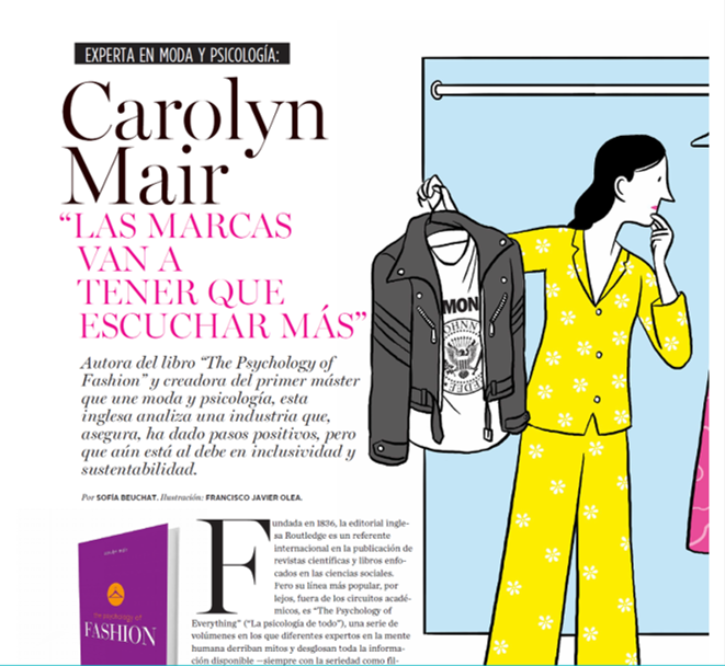 Carolyn Mair in El Mercurio Psychology of Fashion