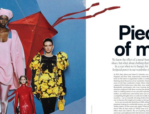 Pieces of Mind, by Jen Nurick, published in Vogue Australia November 2020